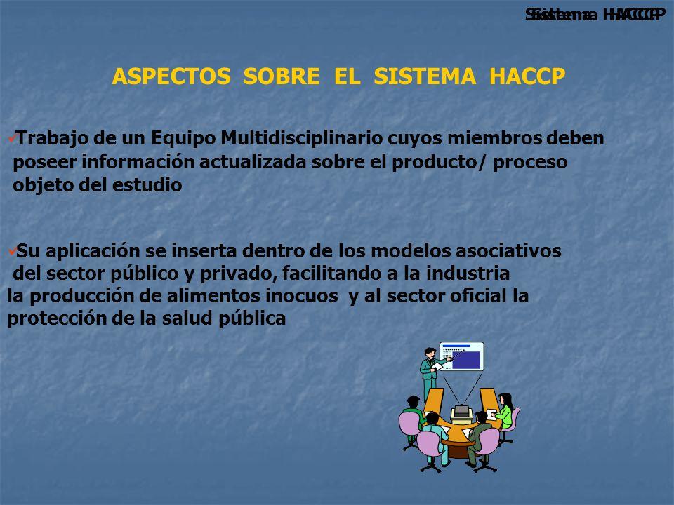 ASPECTOS SOBRE EL SISTEMA HACCP