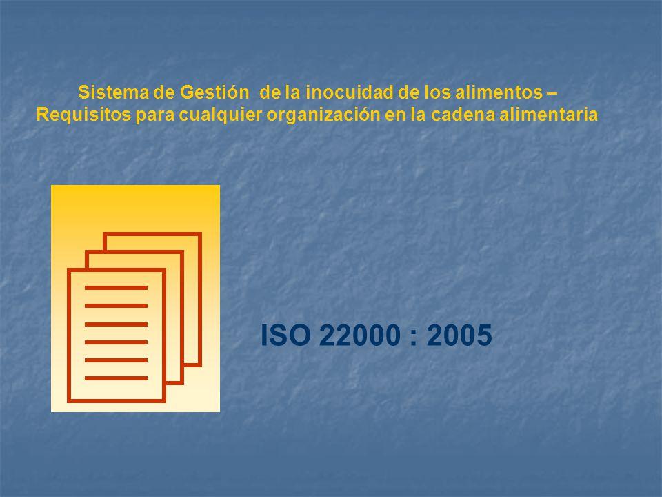 Sistema de Gestión de la inocuidad de los alimentos – Requisitos para cualquier organización en la cadena alimentaria