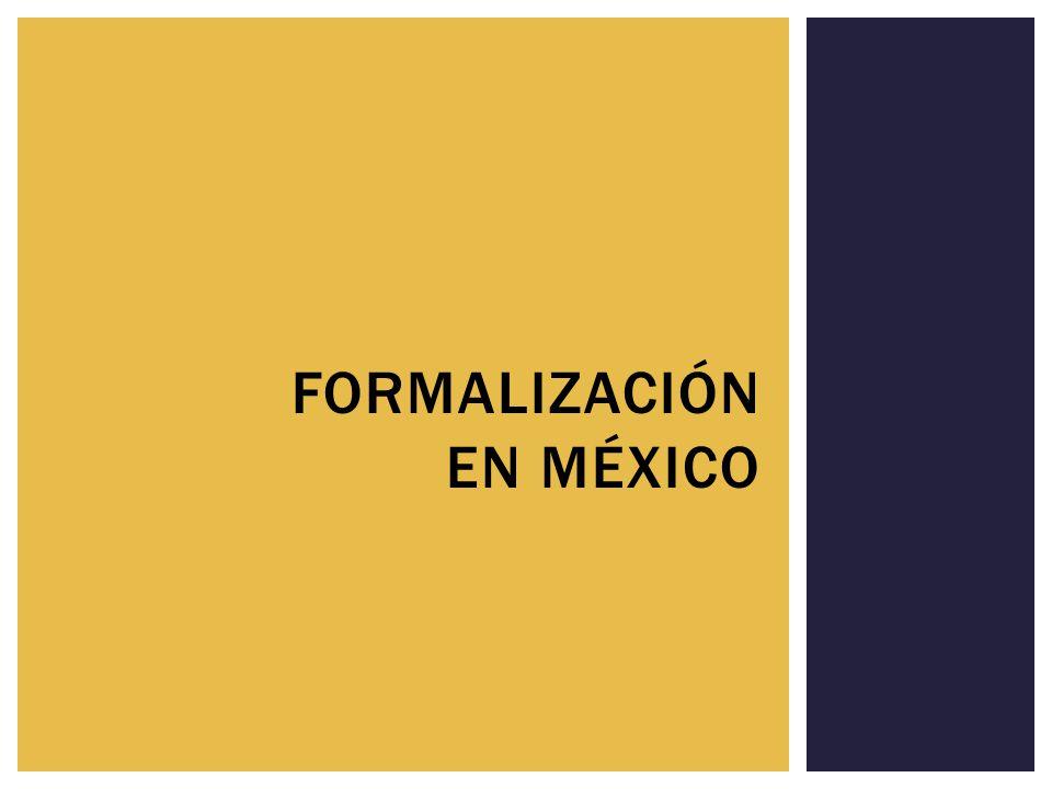 Formalización en méxico