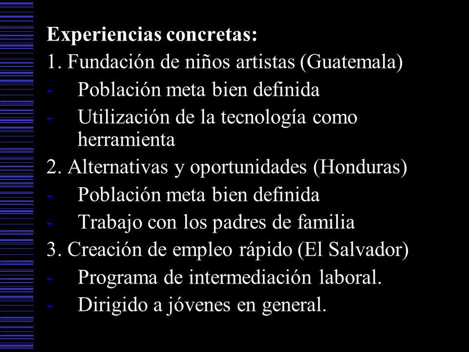 Experiencias concretas:
