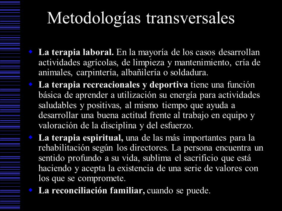 Metodologías transversales