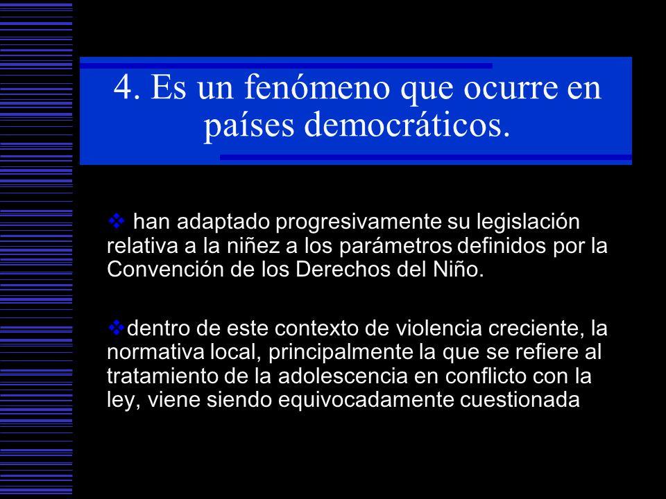 4. Es un fenómeno que ocurre en países democráticos.