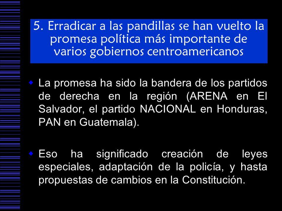 5. Erradicar a las pandillas se han vuelto la promesa política más importante de varios gobiernos centroamericanos