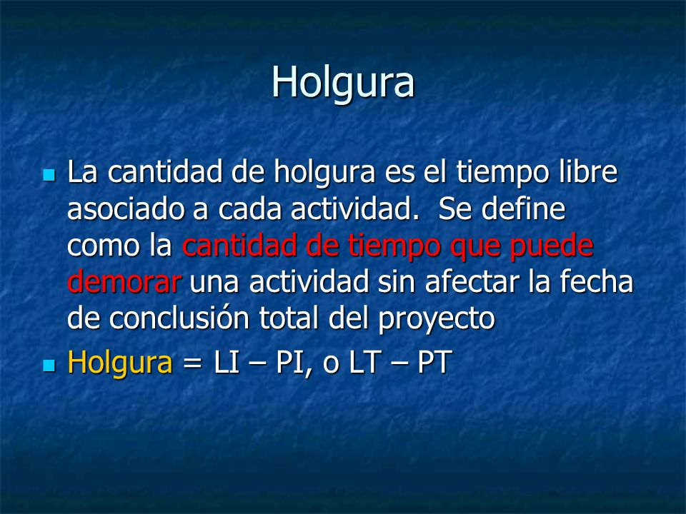 Holgura