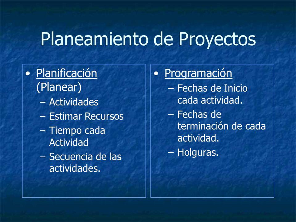 Planeamiento de Proyectos