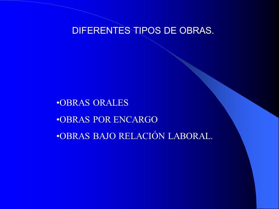DIFERENTES TIPOS DE OBRAS.