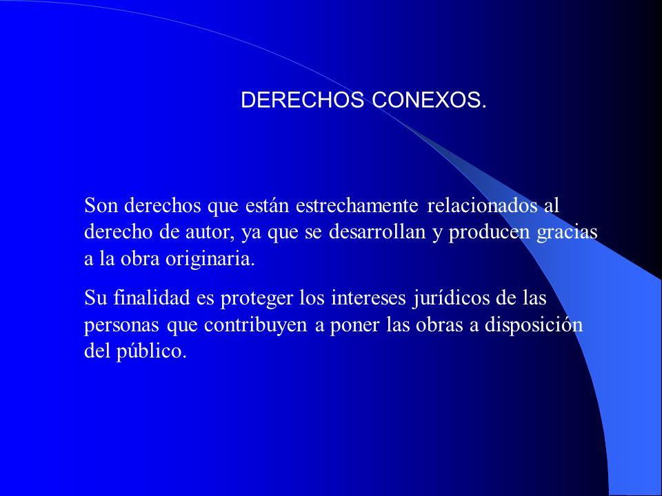 DERECHOS CONEXOS.