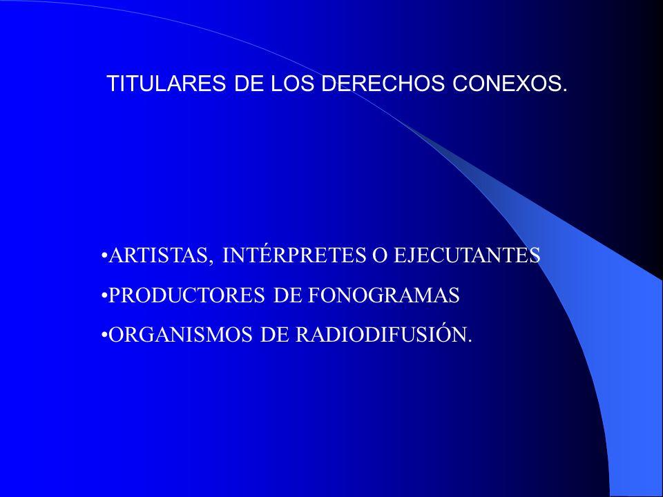 TITULARES DE LOS DERECHOS CONEXOS.