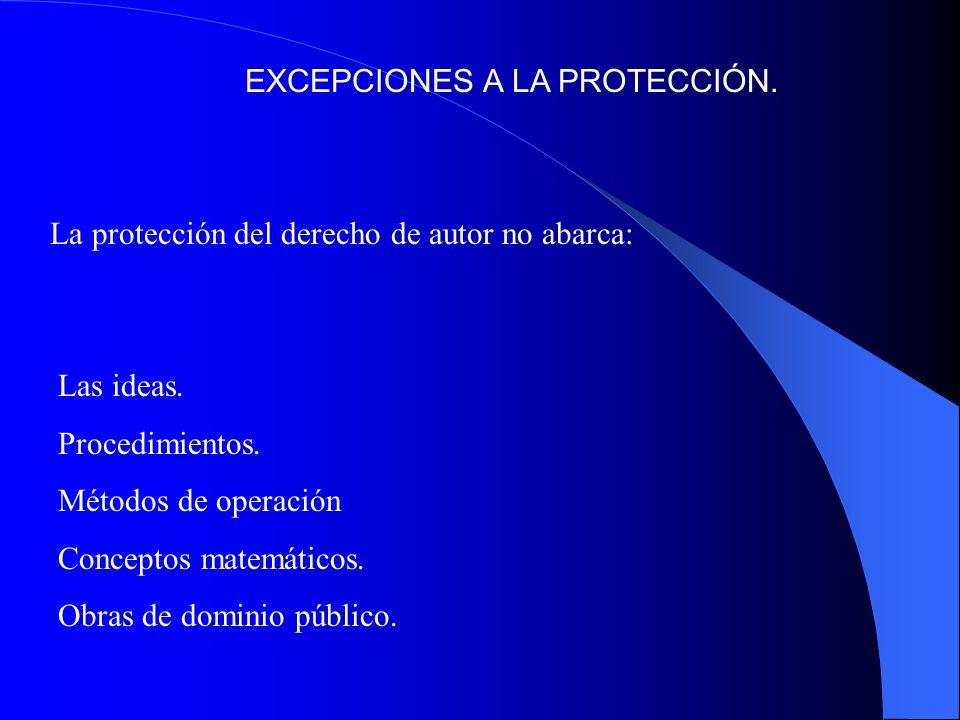 EXCEPCIONES A LA PROTECCIÓN.