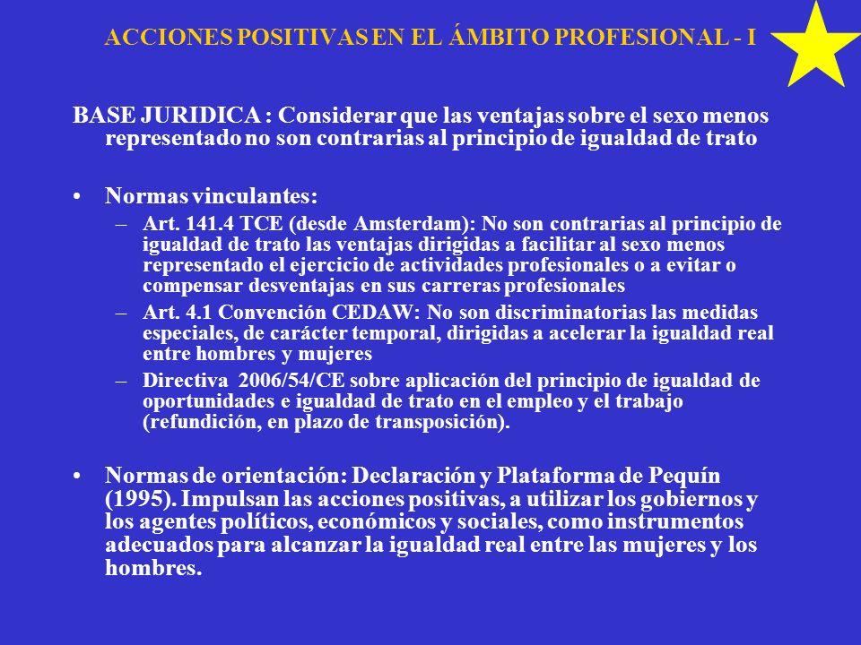 ACCIONES POSITIVAS EN EL ÁMBITO PROFESIONAL - I