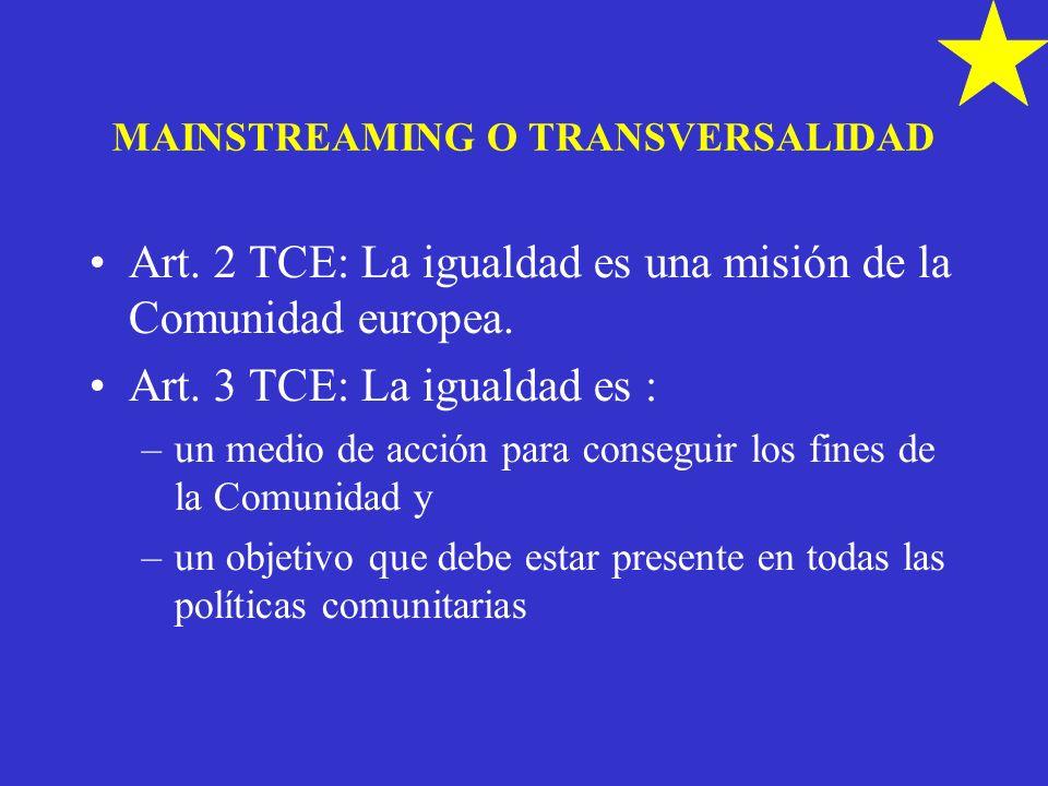 MAINSTREAMING O TRANSVERSALIDAD