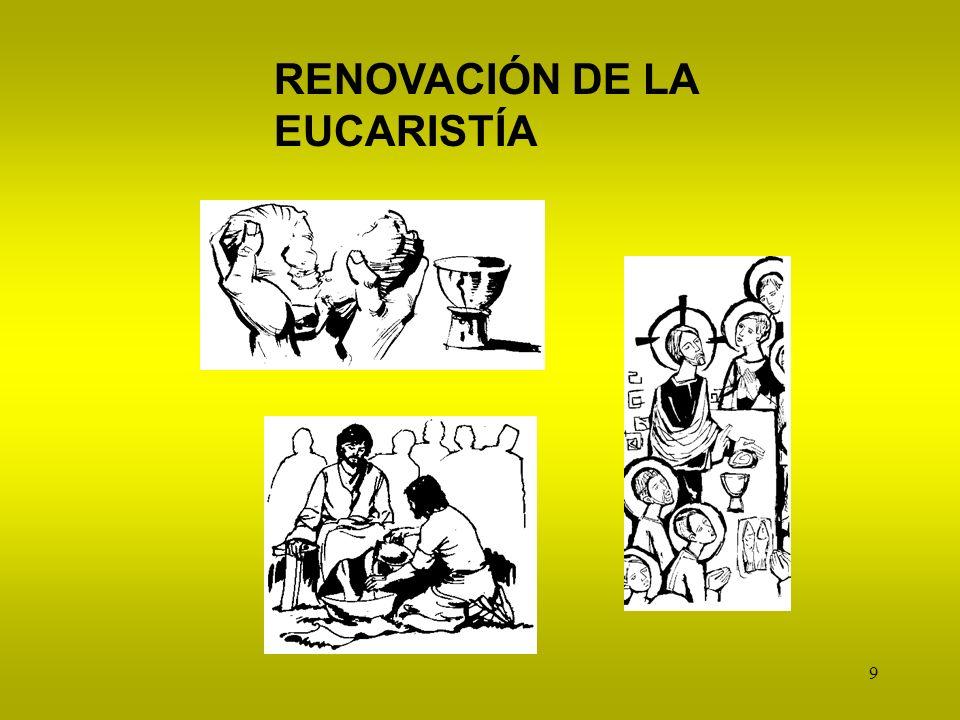 RENOVACIÓN DE LA EUCARISTÍA