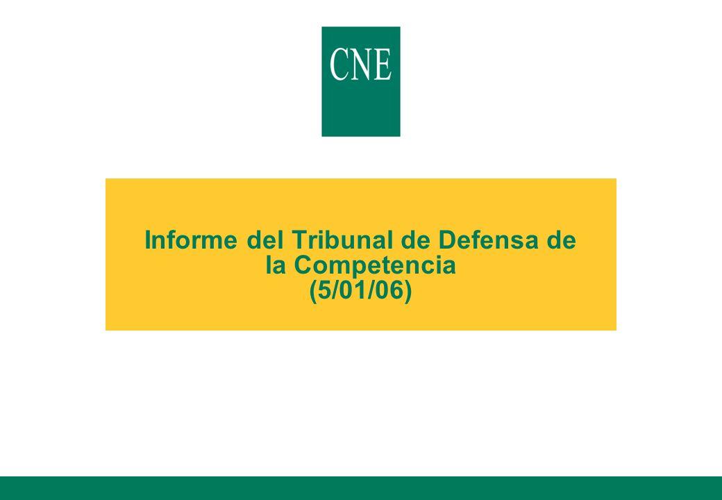 Informe del Tribunal de Defensa de la Competencia (5/01/06)