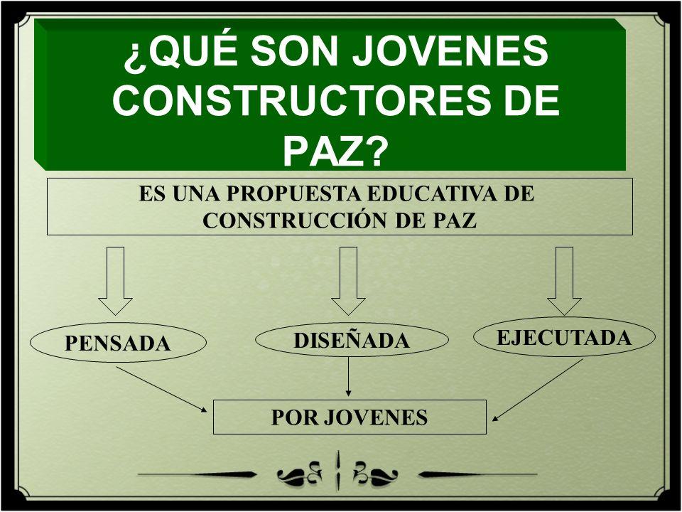 ¿QUÉ SON JOVENES CONSTRUCTORES DE PAZ