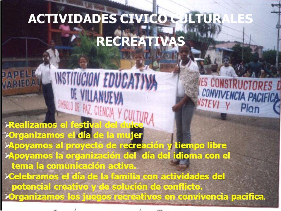 ACTIVIDADES CIVICO CULTURALES
