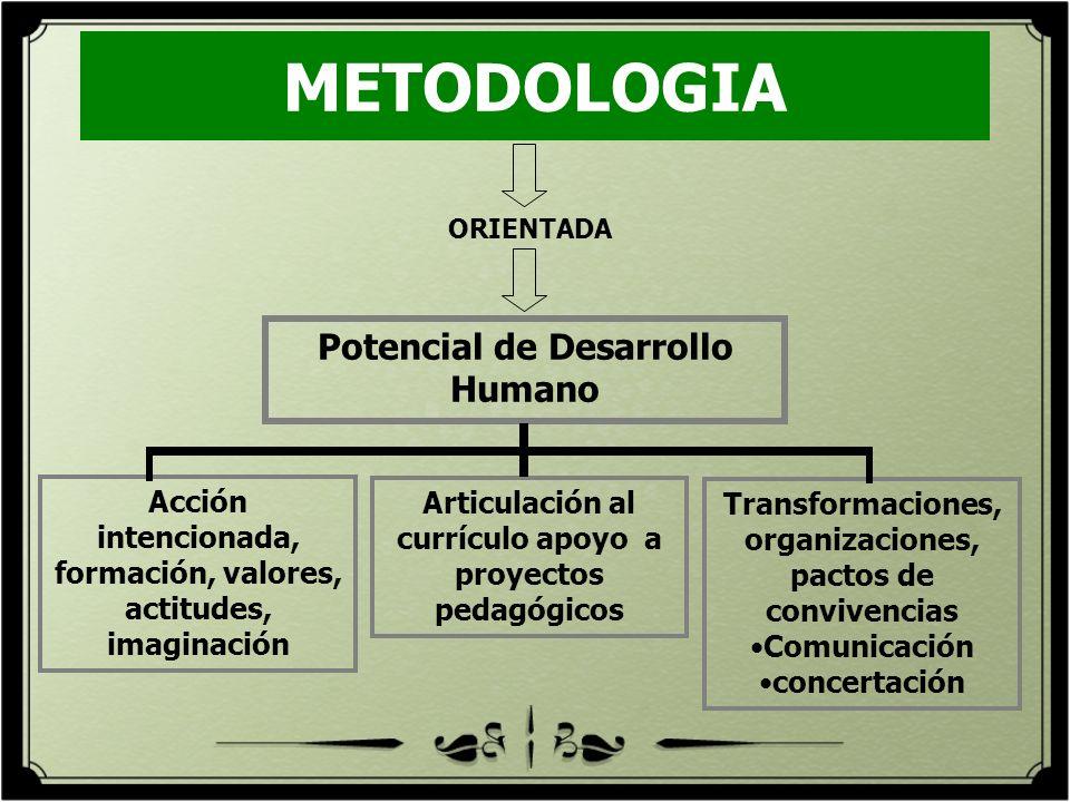 METODOLOGIA Potencial de Desarrollo Humano