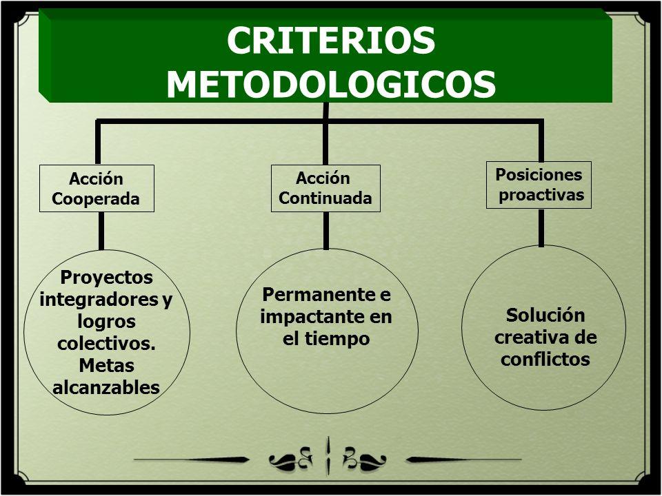 CRITERIOS METODOLOGICOS
