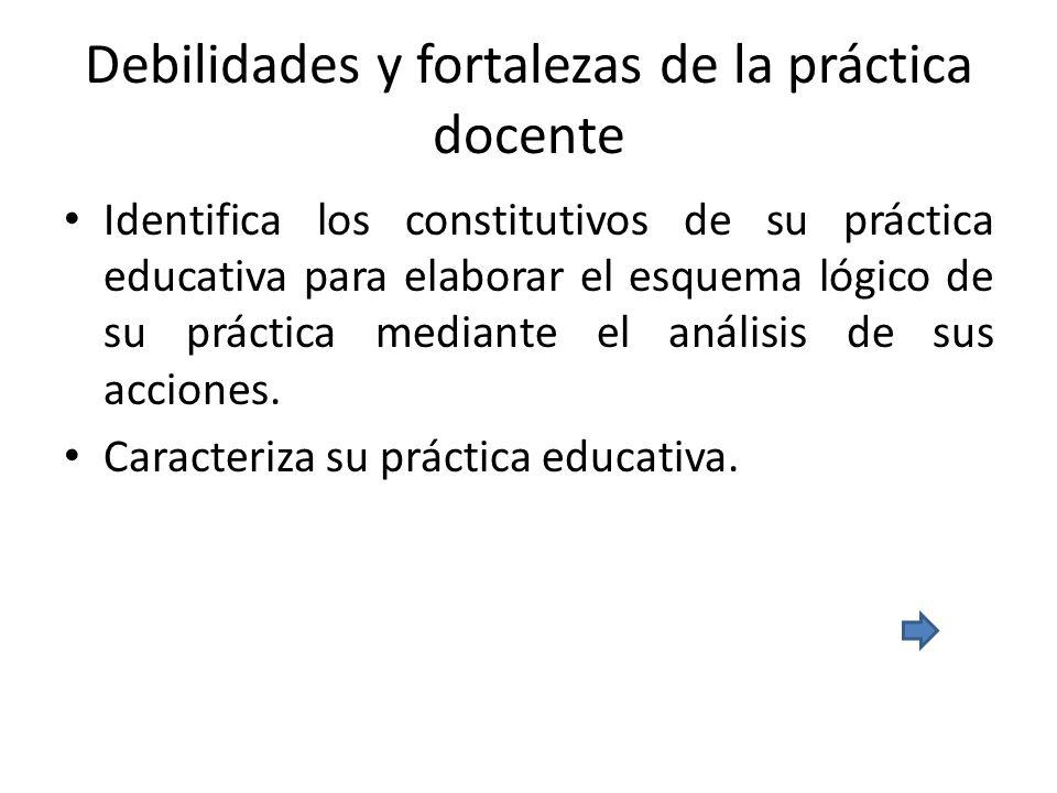 Debilidades y fortalezas de la práctica docente