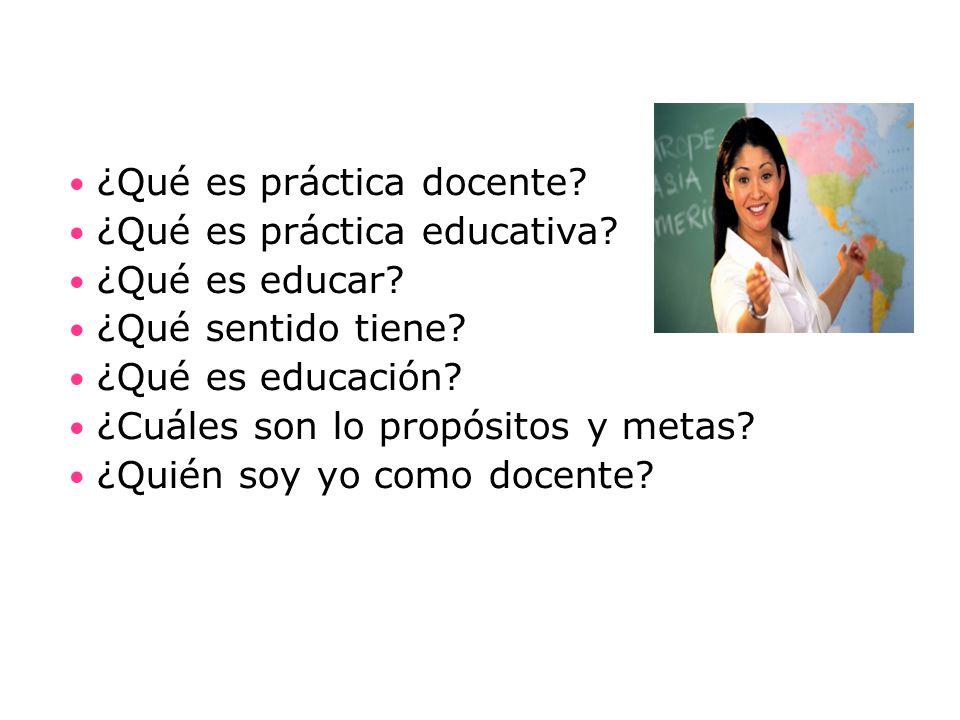 ¿Qué es práctica docente