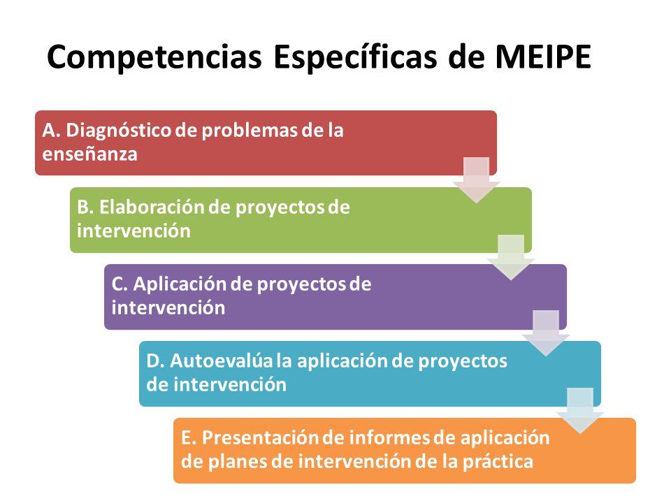 Competencias Específicas de MEIPE