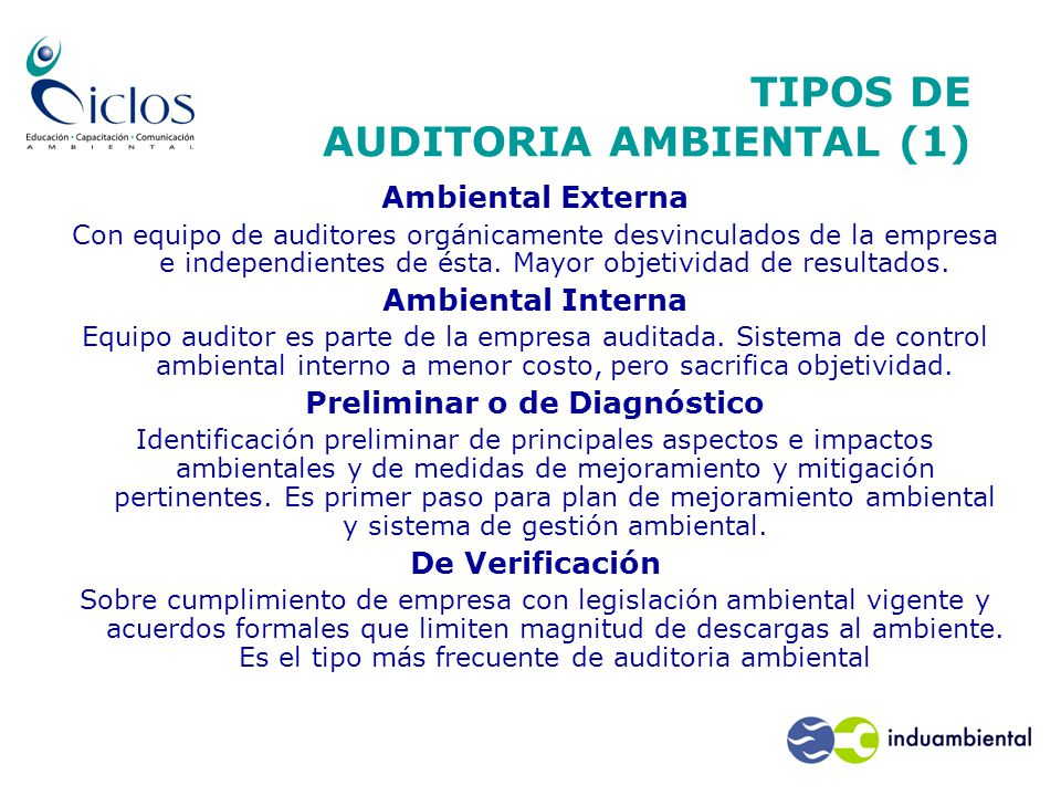 TIPOS DE AUDITORIA AMBIENTAL (1)
