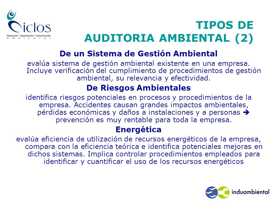 TIPOS DE AUDITORIA AMBIENTAL (2)