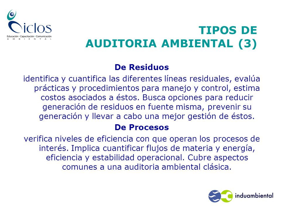 TIPOS DE AUDITORIA AMBIENTAL (3)