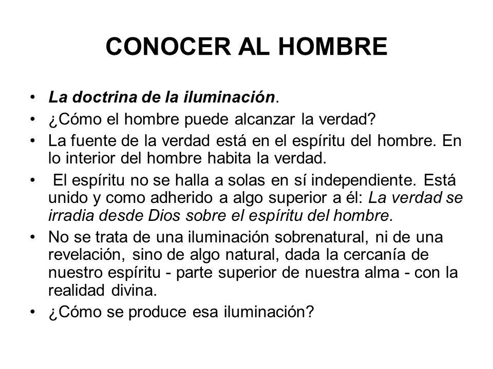 CONOCER AL HOMBRE La doctrina de la iluminación.