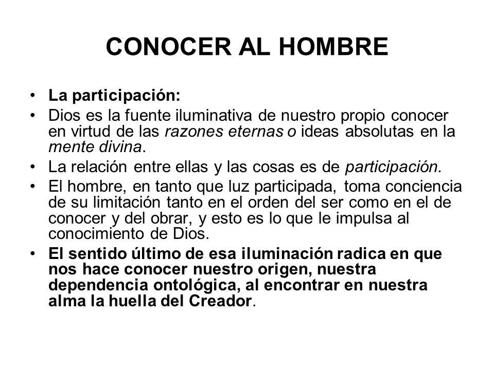 CONOCER AL HOMBRE La participación: