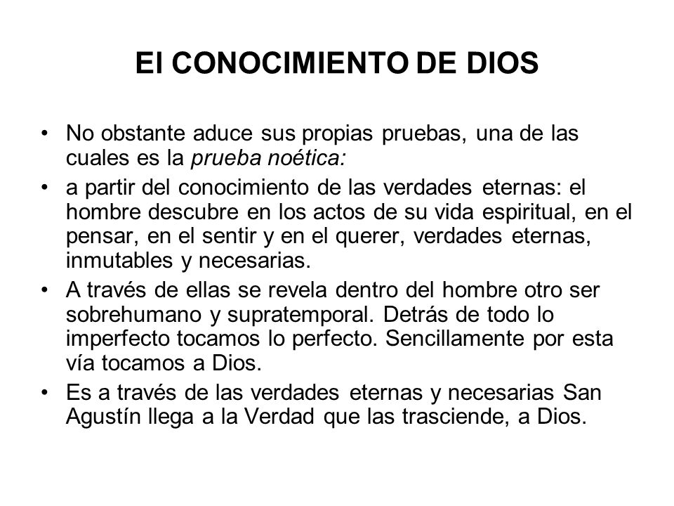 El CONOCIMIENTO DE DIOS