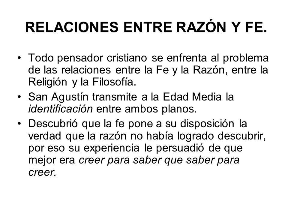 RELACIONES ENTRE RAZÓN Y FE.
