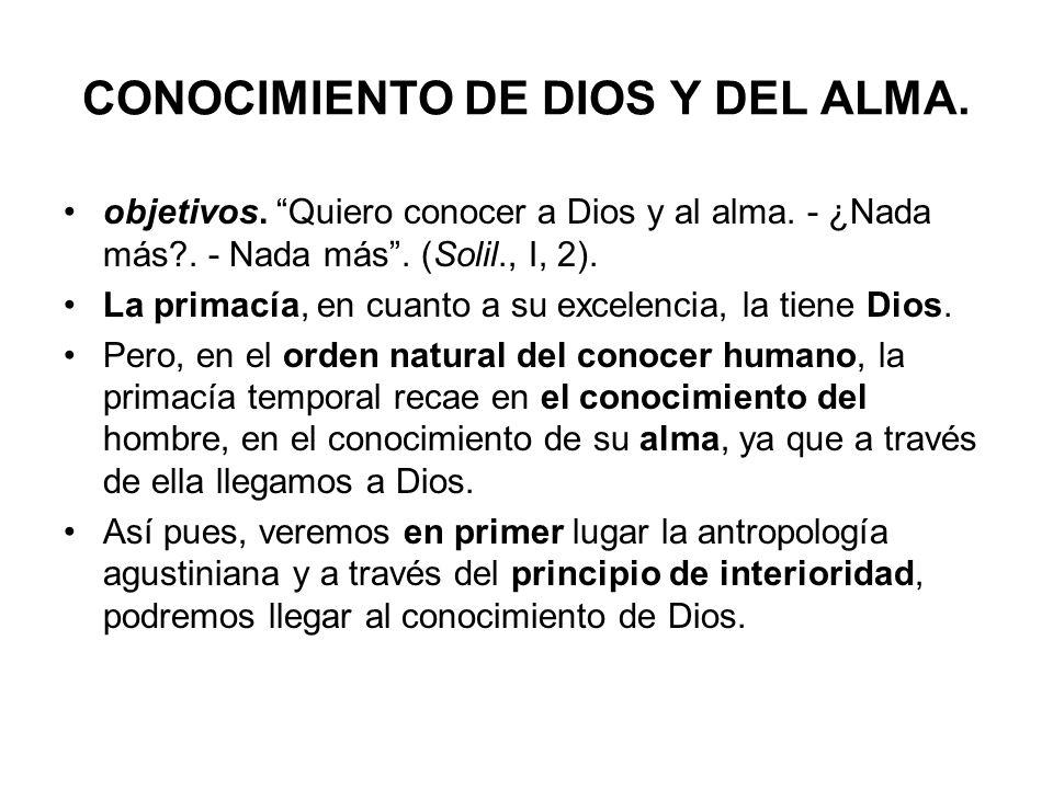CONOCIMIENTO DE DIOS Y DEL ALMA.