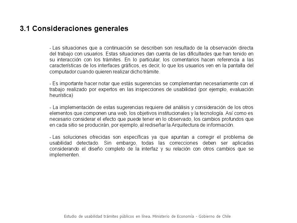3.1 Consideraciones generales