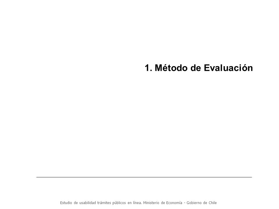 1. Método de Evaluación