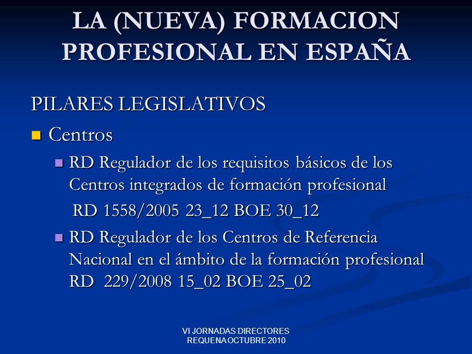 LA (NUEVA) FORMACION PROFESIONAL EN ESPAÑA
