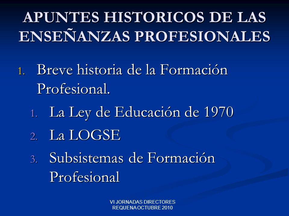 APUNTES HISTORICOS DE LAS ENSEÑANZAS PROFESIONALES