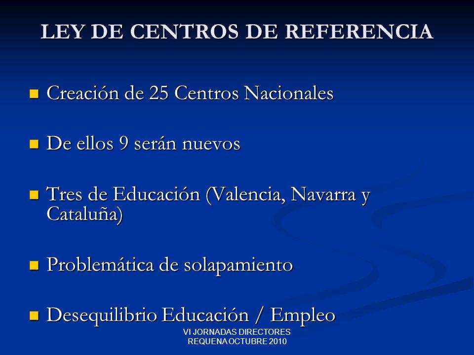 LEY DE CENTROS DE REFERENCIA
