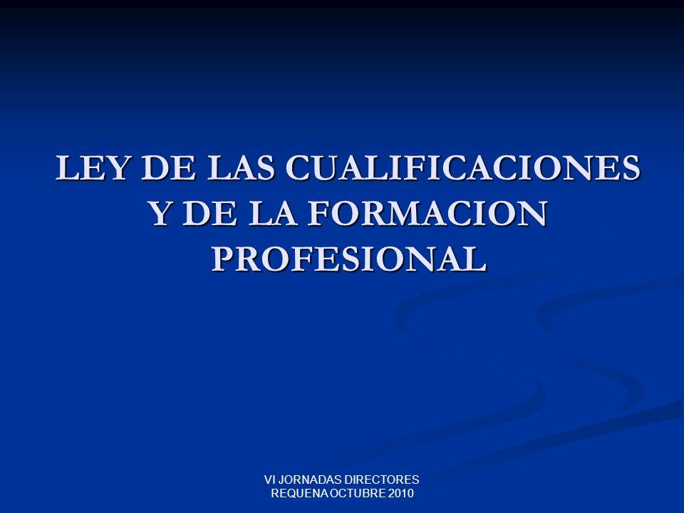 LEY DE LAS CUALIFICACIONES Y DE LA FORMACION PROFESIONAL