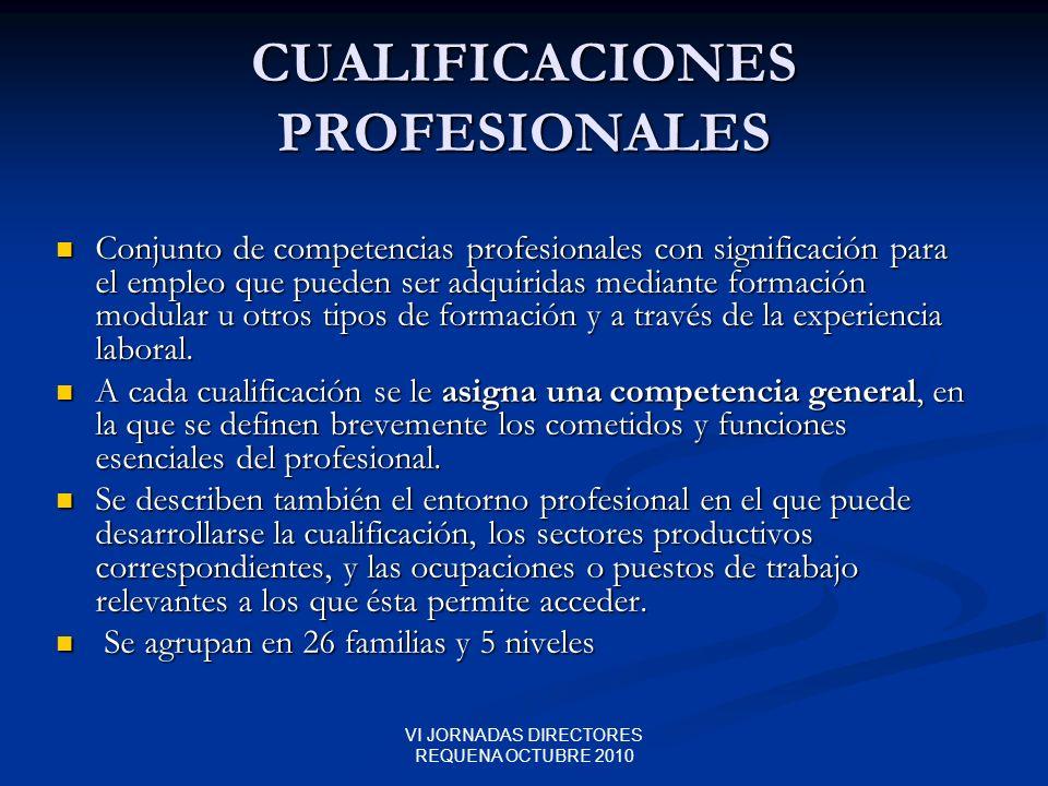 CUALIFICACIONES PROFESIONALES