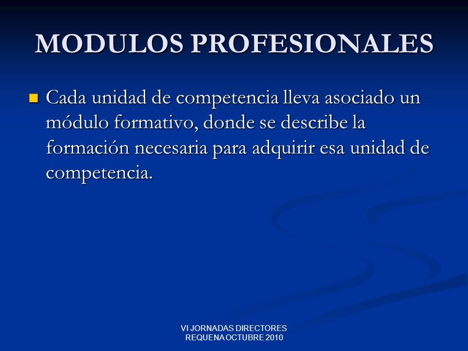 MODULOS PROFESIONALES