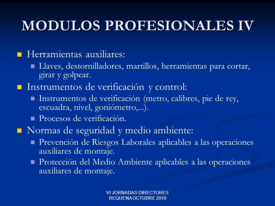MODULOS PROFESIONALES IV