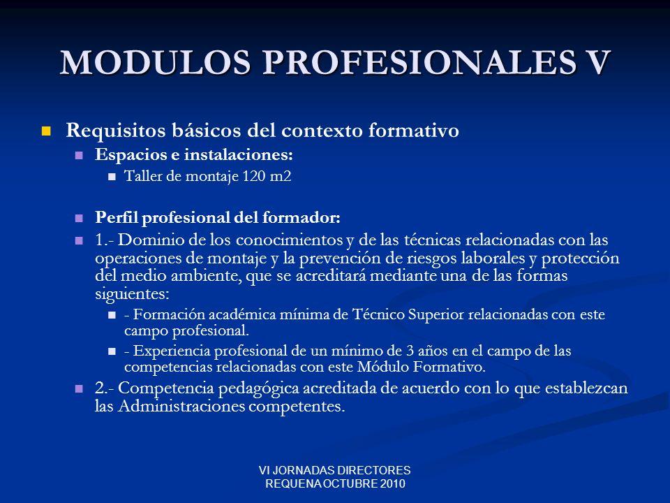 MODULOS PROFESIONALES V