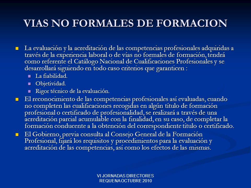 VIAS NO FORMALES DE FORMACION