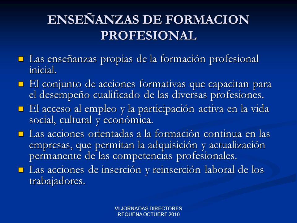 ENSEÑANZAS DE FORMACION PROFESIONAL