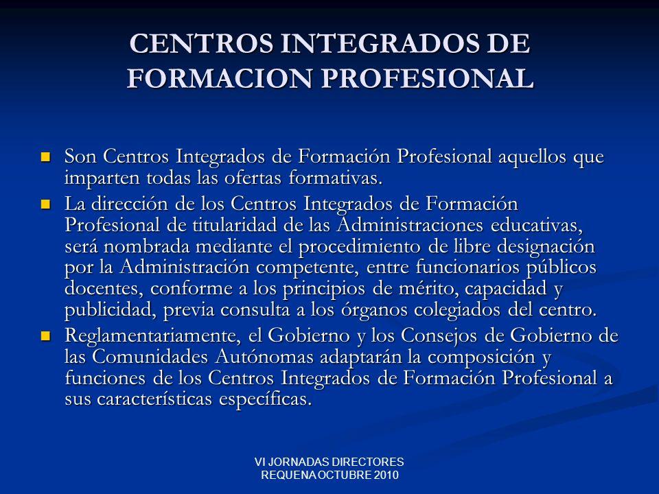 CENTROS INTEGRADOS DE FORMACION PROFESIONAL