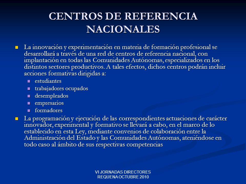 CENTROS DE REFERENCIA NACIONALES