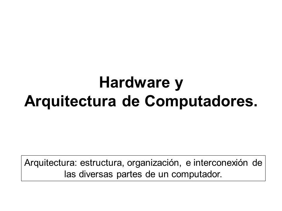 Hardware y arquitectura de computadores ppt descargar for Arquitectura de computadores