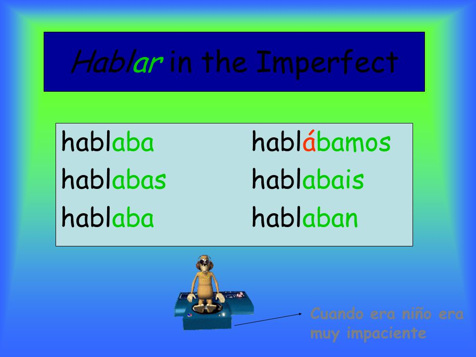 Hablar in the Imperfect