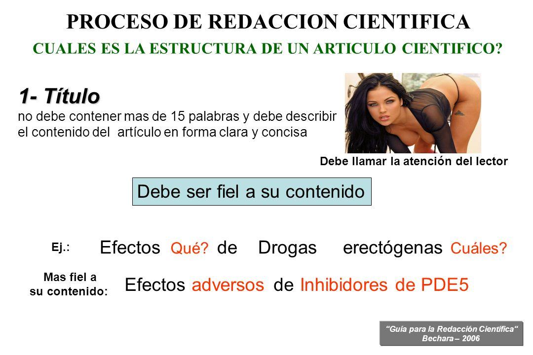 PROCESO DE REDACCION CIENTIFICA