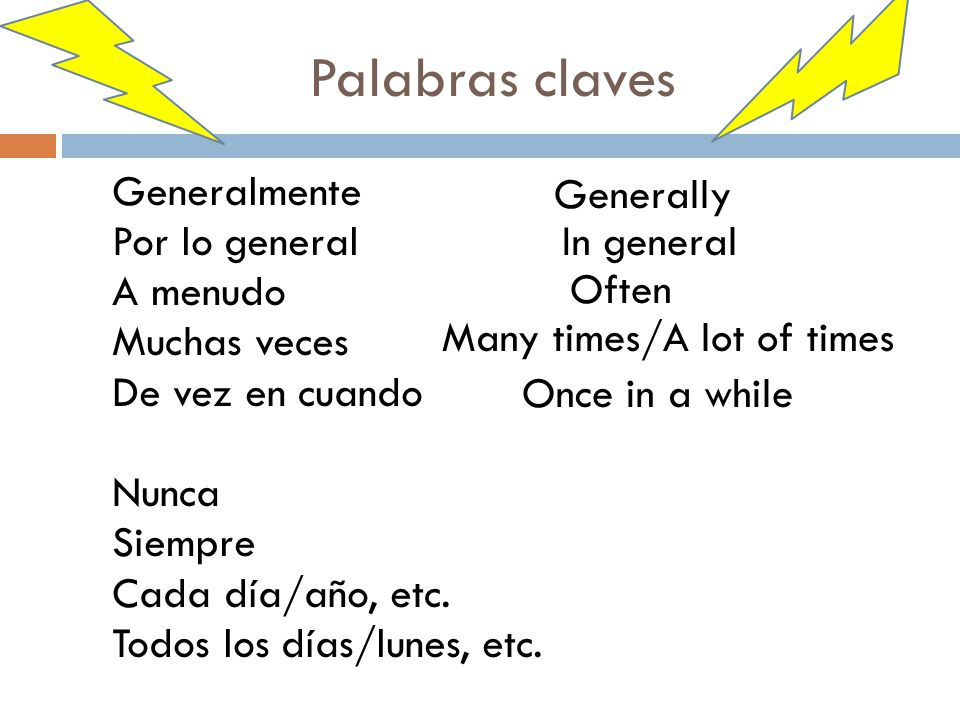 Palabras claves Generally
